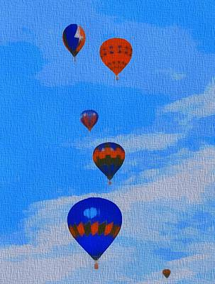 Midwest Mixed Media - Hot Air Balloons Pop Art by Dan Sproul