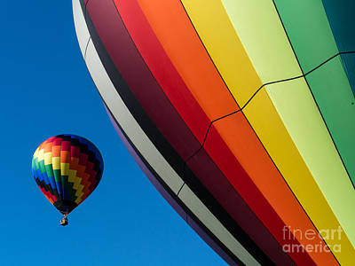 Photograph - Hot Air Balloons Quechee Vermont by Edward Fielding