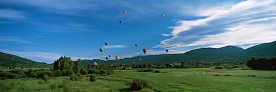 Hot Air Balloons Rising, Hot Air Print by Panoramic Images