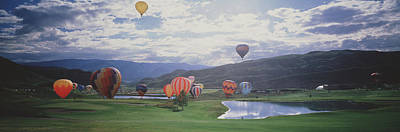 Hot Air Balloon Race Photograph - Hot Air Balloons, Snowmass, Colorado by Panoramic Images