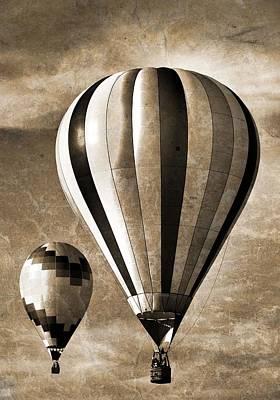 Hot Air Balloon Mixed Media - Hot Air Balloons Vintage by Dan Sproul
