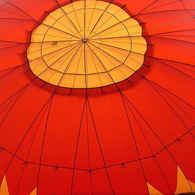 Hot Air Balloon At Dawn Art Print by Art Block Collections