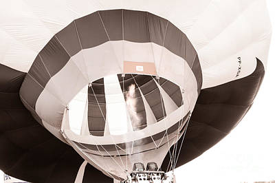 Photograph - Hot Air In Black And White by Mark East