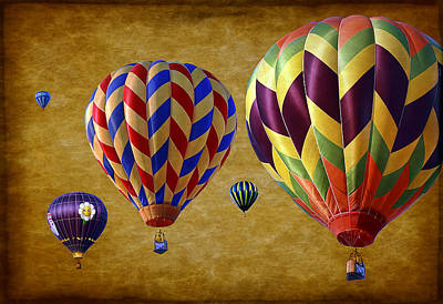Aged Photograph - Hot Air by Marcia Colelli