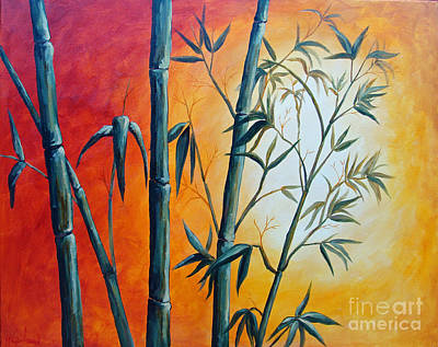 Painting - Hot Bamboo Days by Phyllis Howard