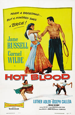 Films By Nicholas Ray Photograph - Hot Blood, Top L-r Jane Russell, Cornel by Everett