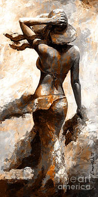 Hot Breeze - Digital Color Version Rust Art Print by Emerico Imre Toth