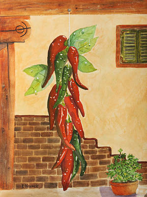 Hot Chili Peppers Print by Patricia Novack
