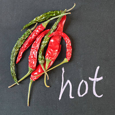 Black Diet Photograph - Hot Chili by Tom Gowanlock
