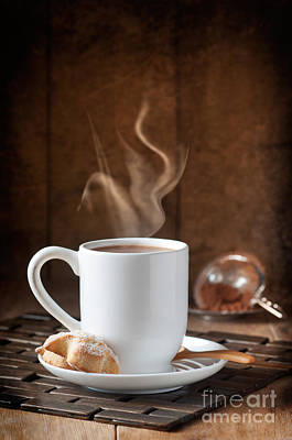 Steaming Photograph - Hot Chocolate Drink by Amanda Elwell