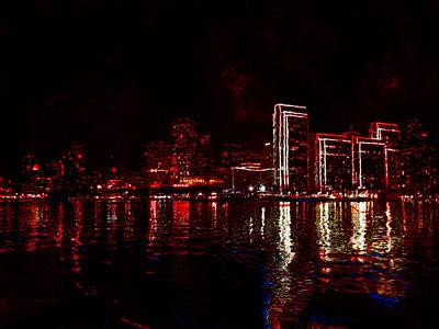 Hot City Night Art Print