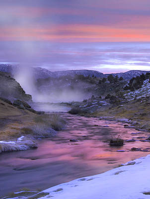 Hot Creek At Sunset Mammoth Lakes Art Print