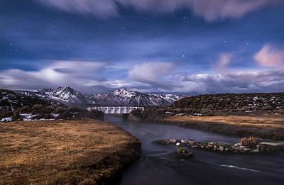 Self Portrait Photograph - Hot Creek Bridge by Cat Connor