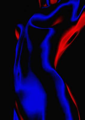 Hot Curves Cold Light Print by Steve K