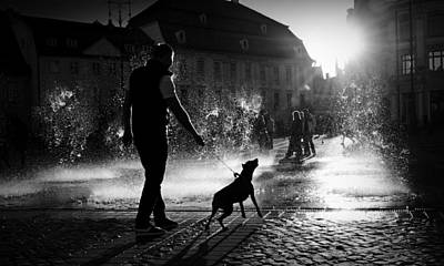 Water Fountain Photograph - Hot Day by Ionut Harag
