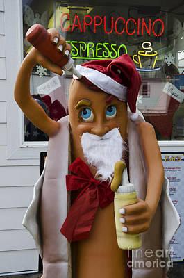 Hot Dogs Photograph - Hot Dog Santa Claus by Bob Christopher