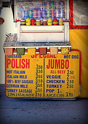 Photograph - Hot Dog Stand by Valentino Visentini