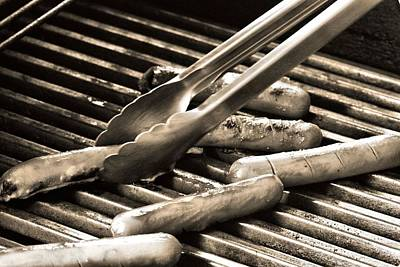 Photograph - Hot Dogs On The Grill by Dan Sproul