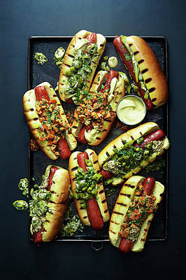 Hot Dogs With Relish Art Print by Photograph By Eric Isaac