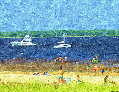 Painting - Hot Fun In The Summer Sun by Rosemarie E Seppala