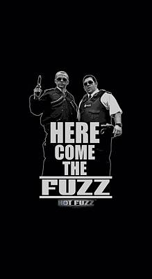 Police Angels Digital Art - Hot Fuzz - Here Come The Fuzz by Brand A
