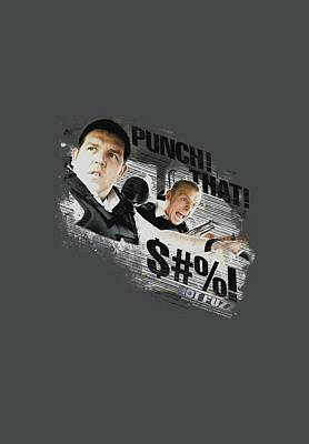 Police Angels Digital Art - Hot Fuzz - Punch That by Brand A