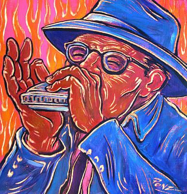 Painting - Hot Harp by Robert Ponzio