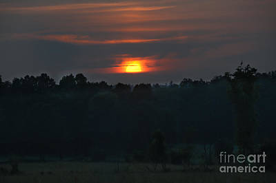 Photograph - Hot Hazy Sunset by Cheryl Baxter