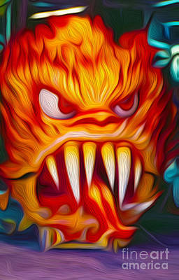 Painting - Hot Head Devil by Gregory Dyer