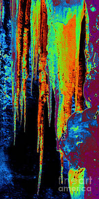 Photograph - Hot Ice Solarisation by Rudi Prott