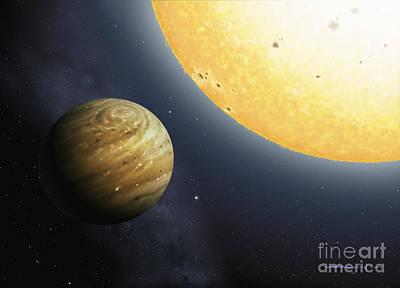 Photograph - Hot Jupiter Extrasolar Planet by Atlas Photo Bank