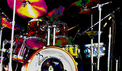 Hot Licks Drummer Art Print by Kae Cheatham