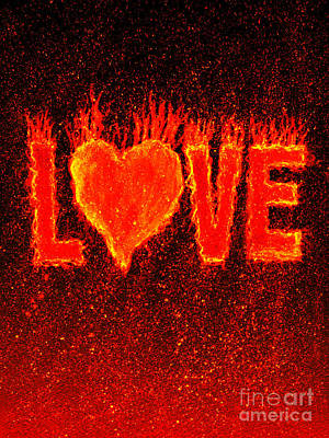 Hot Love  Art Print by Bill Holkham