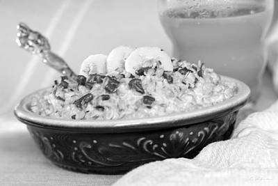 Oatmeal Photograph - Hot Oalmeal by Iris Richardson