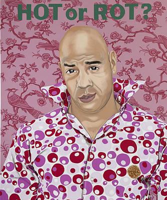 Hamburger Painting - Hot Or Rot by Marcella Lassen