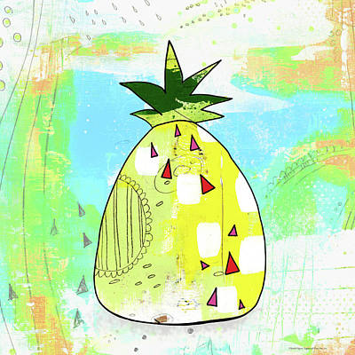Painting - Hot Pineapple by Sarah Ogren