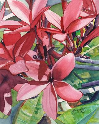 Hot Pink Plumeria Art Print