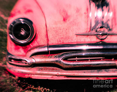 Pink Hot Rod Photograph - Hot Pink Wreck by Sonja Quintero