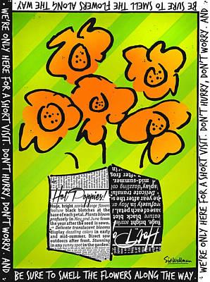 Hot Poppies Art Print
