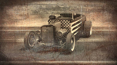 Hot Rod 3 Art Print by Joshua Fowler