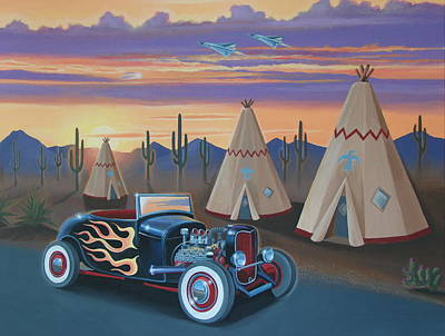 Hot Rod At The Wigwams Original by Stuart Swartz