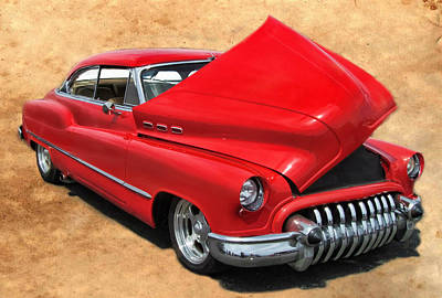 Hot Rod Buick Art Print by Victor Montgomery