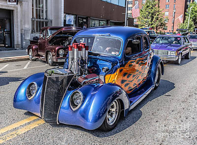 Belair Photograph - Hot Rod Car by Edward Fielding