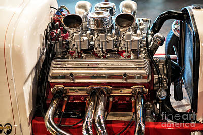 Photograph - Hot Rod Engine by John Rizzuto