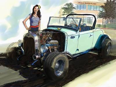 Painting - Hot Rod Ford by RG McMahon