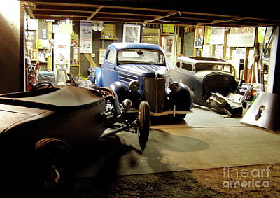 Photograph - Hot Rod Garage by Alan Johnson