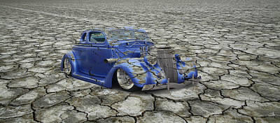 Photograph - Hot Rod Mirage by Steve McKinzie