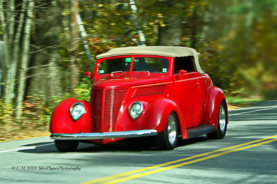 Sunday Drive Photograph - Hot Rod Red by Catherine Melvin