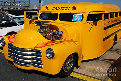 Hot Rod School Bus Art Print