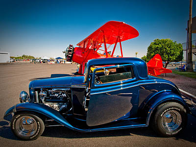 Photograph - Hot Rods And Biplanes by Elaine Snyder